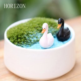 Resin Swan Miniature Figurine Fairy Garden Dollhouse Decor Micro Landscape ZB