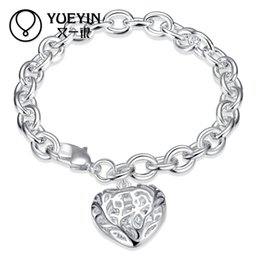 silver bracelet three hearts NZ - High quality Competitive price Factory direct wholesale 925 sterling silver hollow three-dimensional heart bracelet free ship