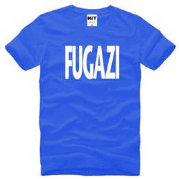 t shirt design rock band NZ - New Design Fugazi T Shirts Men Cotton Short Sleeve HEAVY METAL PUNK POP Men's T-Shirt Summer Style Male Music Rock Band Top Tees