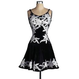 $enCountryForm.capitalKeyWord Australia - Velvet Latin Samba Dance Dress Women Prom Dress Competition Dresses Salsa Tango Ballroom D0233 Strap Shoulder Rhinestones Appliques Backless