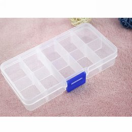 adjustable compartment storage boxes Australia - Wholesale Adjustable Storage Box 10 15 24 Compartments Organiser Plastic Case Madicine Ring Jewelry Store Box Free Shipping