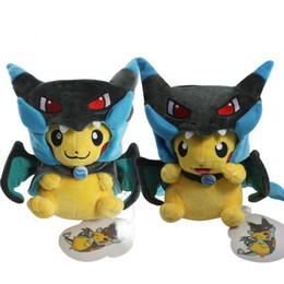 $enCountryForm.capitalKeyWord NZ - Fashion 2 Style Pikachu Cosplay Mega Charizard X Plush Toys 25cm Kawaii Pikachu Plush Soft Stuffed Animals Toys for Kids