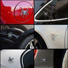 chrome car emblems animals 2019 - 2017 3D Car Stickers HOT Universal Metal Spider Shape Emblem Chrome 3D Car Truck Motor Decal Sticker cheap chrome car em