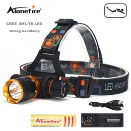 online shopping AloneFire DV41 XML T6 LED Mode Waterproof Scuba Diving Headlamp Underwater work Headlight Flashlight torch Light