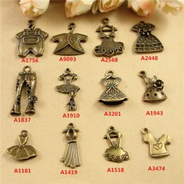 $enCountryForm.capitalKeyWord Canada - DIY handmade metal dangle ballet dress charms jewelry accessories materials wholesale retro clothing   skirt pants Bracelet Necklace Pendant