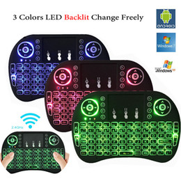 Wireless gaming pad online shopping - Colorful Backlight i8 Mini Keyboard Wireless Gaming Keyboards Air Mouse Remote Control for PC Pad Google Andriod TV Box Xbox360 PS3 OTG