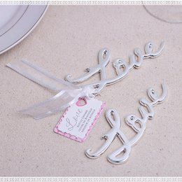 $enCountryForm.capitalKeyWord Canada - Wedding Favors Gift Gold Silver LOVE Beer Bottle Opener Party Decoration Baby shower Souvenir+DHL Free Shipping