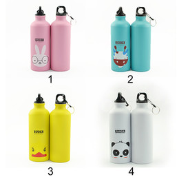 $enCountryForm.capitalKeyWord Canada - 500ml Lovely Animals Design Water Bottle Outdoor Portable Outdoor Sports Cycling Camping Bicycle Aluminum Alloy School Kids Water Bottle