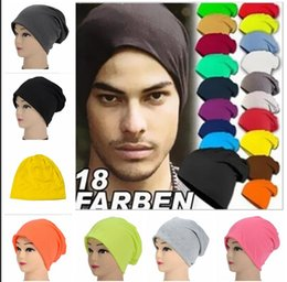 hip hop style beanie hats UK - 15 Candy color unisex winter hat head set Korean style men women tide turban hat knitted cap streetwear dance hip hop Skullies Beanies S542