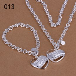 Wholesale new women's sterling silver plated jewelry sets,fashion 925 silver jewelry set 7 same price diffrent style GTS66 free shipping