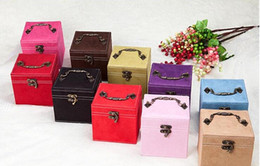 Arrivals Jewelry Korean Canada - safe house south korean princess flannelette box double lock jewelry box the European style cosmetic new arrival and convinace