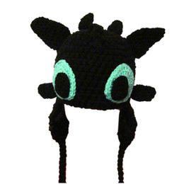 $enCountryForm.capitalKeyWord UK - Novelty Character Toothless Hat,Handmade Knit Crochet Baby Boy Girl Night Fury Dragon Hat,Child Winter Cap,Infant Photo Prop