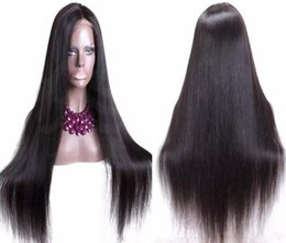 human hair lace wigs free shipping NZ - Best hair quality cheap price for wig wholesalers silky straight virgin brazilian human hair silk top lace front wig free shipping