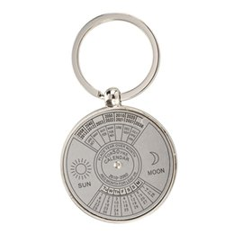 calendar notes UK - Keychain key ring metal Perpetual Calendar pattern