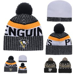 Barato Boné De Beisebol-NOVO HOT KNIT PITTSBURGH PENGUINS Baseball Club Beanies Team Hat Winter Caps Popular Beanie Wholesale Fix Cheap Gift VENDA