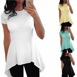 $enCountryForm.capitalKeyWord Canada - 2017 Summer Style Women Blouse Fashion O-neck Short Sleeve Sexy Blusas Peplum Waist Slim Black White Tops Shirts Plus Size S-4XL