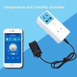 wifi smart socket 2019 - Wholesale-Itead Sonoff WIFI S22 Smart Socket With Temperature And Humidity Monitoring Sensor US UK EU AU Plug Smart Home