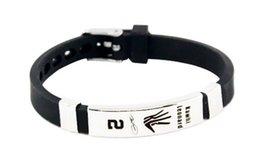 Stainless Steel Power Bracelet NZ - Fashion jewelry size can adjust Stainless steel buckle silicone power bracelet energy wristband balance sports bangle for leonard