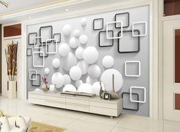 Özel herhangi boyutu Modern minimalist top box arka plan duvar duvar 3d duvar kağıtları 3d duvar kağıtları için tv backdrop indirimde