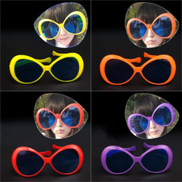 Yellow Grey Party Supplies Canada - Hot Unisex Masquerade Party Semicircle Big Glasses Halloween April Fools' Day Funny PVC Glasses Decoration Opp Bag Package 6 Colors