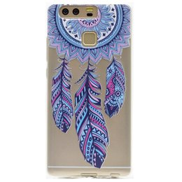 Fashion girls mobile phone covers online shopping - Transparent TPU Cover For Huawei P9 Case Fashion Tower bike Butterfly Girl Feather Design Mobile Phone Cases