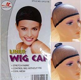 Discount net wigs - Free Ship 20 pcs NEW Fishnet Wig Cap Stretchable Elastic Hair Net Snood Wig Cap hair net wig net