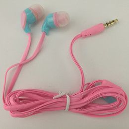 flat wire headset lg NZ - Flat noodle gift headset earphones headphones earcup low price Large use Purchase quality factory wholesale 500ps lot