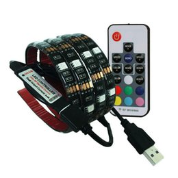 Online Shopping USB RGB LED Strip Light Kit Cuttable Bottom With Key M M RF  Controller Set