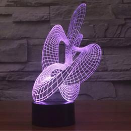 $enCountryForm.capitalKeyWord Canada - Amazing Optical Illusion 3D Effect Flying Riband 7 color Changing LED Light Table Lamp Night Light
