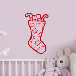 Snowman Stickers NZ - Snowman Socks Kids Room Christmas Decorative Vinyl Wall Sticker Shop Window Mural Nursery Xmas Decor Sticker YO-97 ZZ