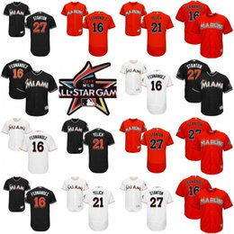 fff3fb0e4 2015 MLB All Star National Miami Marlins 27 Giancarlo Stanton Jersey .. ... all  star jersey mens miami marlins jerseys 16 jose fernandez 21 christian  yelich ...