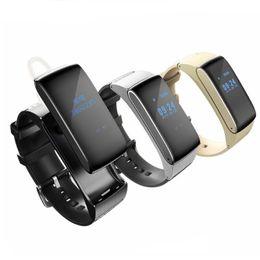 silver sounds 2019 - Bluetooth Smartband DF22 Smart bracelet watches HiFi Sound Headset Digital Wrist Calories Pedometer Track Fitness Sleep