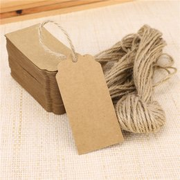 2016 Fashion Wedding Card Blank Kraft Paper Hang Tag Wedding Party Favore Etichetta Prezzo Gift Cards Decorazione di nozze Bomboniere e regali