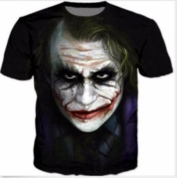 a32be4522 Newest Fashion Mens Womans Batman and Joker Face T-Shirt Summer Style Funny  Unisex 3D Print Casual T-Shirt Tops Plus Size AA266