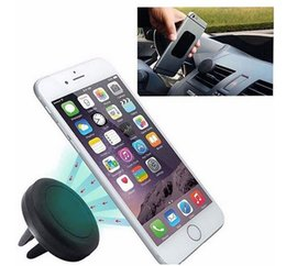 magnetic cell phone car mount NZ - Cell Phone Holder Magnetic Air Vent Mount Car Phone Holder Car Styling GPS Holder For iphone 5 5S 6 6S Samsung S4 S5 S6