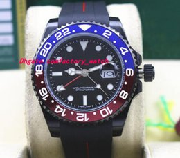 $enCountryForm.capitalKeyWord Canada - Top Quality Luxury II 116719 PVD Coating Red Blue Ceramic Bezel Rubber Bracelet 40MM Automatic Mechanical Men Watches New Arrival