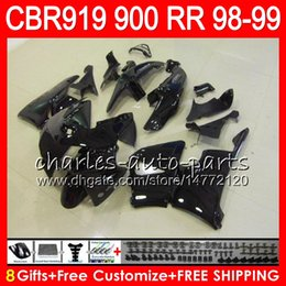 $enCountryForm.capitalKeyWord Canada - Body For HONDA CBR 919RR CBR900RR CBR919RR 98 99 CBR 900RR glossy black 68HM4 CBR919 RR CBR900 RR CBR 919 RR 1998 1999 Fairing kit 8Gifts