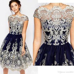 097208c35546 Knee length dress online online shopping - Vintage Lace Embroidery Short  Homecoming Dresses Cap Sleeve Knee