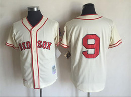 a09a65db4 ... 2017 New Mens Boston Red Sox 9 Ted Williams Cream Cooperstown  Collection Stitched Throwback MLB Baseball 2017 Throwback Baseball Jerseys  ...