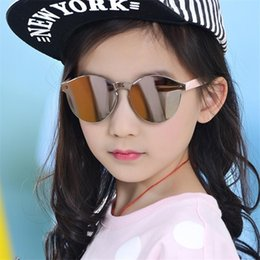Baby Mirrored Glasses Canada - Fashion Sunglasses Baby Boys Girls Kids sunglasses Vintage Round Sun Glasses Children Arrow Glass 100%UV Protection Oculos De 3-13 years
