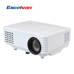 Home Theater Av NZ - Wholesale-Excelvan RD-805 LCD LED Projector 800*480 120 Lumens Portable Mini Projectors Multimedia Home Theater HDMI   USB  AV   VGA  ATV