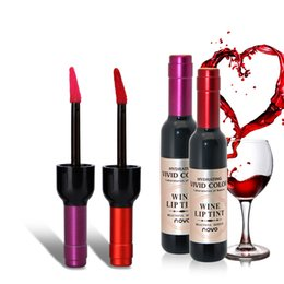 Discount gloss lipstick brands - Makeup Liquid Lipsticks LABIOTTE Bottle Of Red Wine Lip Tint Branded Velvet Waterproof Long Lasting Lip Gloss 6 Colors