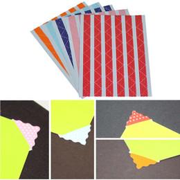 78pcs / fogli degli angoli degli angoli della foto del PVC per l'album decorativo degli autoadesivi del bollo dell'album di DIY Scrapbooking