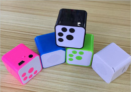 Speaker Green NZ - 2016 New Fashion Portable mini MP3 Player Support Micro TF SD Card sport mp3 Music players Extroverted mp3 speaker free shipping
