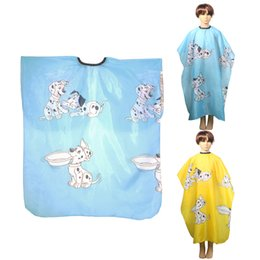 hair cutting capes children Canada - Kid Cartoon Dog Dressing Cape Salon Gown Cover Barber Hairdresser Hair Cut Cloth Child Hair Clipper Capes