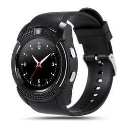 $enCountryForm.capitalKeyWord Canada - Hot V8 smart watch phone intelligent mobile clock with SIM card camera bluetooth message reminder for Android phones