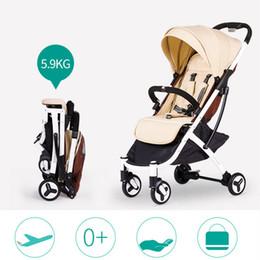 Carrinho de bebê leve da forma 5.9kg, carro portátil do guarda-chuva do bebê, carrinho de criança rápido da liberação de 4 rodas, bebê esperto Pram