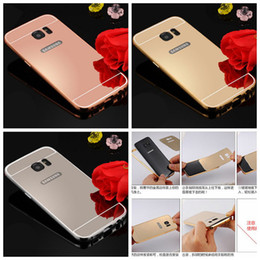 galaxy s5 metal bumper 2019 - Luxury Mirror Bling Case+Aluminum Bumper Frame For Iphone 7 Plus Iphone 6S Plus 5S 4S Samsung Galaxy S7 S6 S5 Note 5