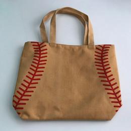 $enCountryForm.capitalKeyWord Canada - 4 colors in stock softball baseball bag Tote BagsWholesale Blanks Cotton Canvas Softball Tote Bags Baseball Bag Football Bags