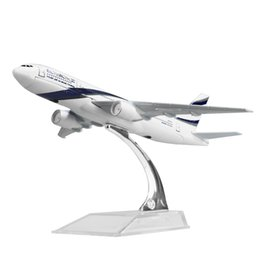 $enCountryForm.capitalKeyWord UK - New hot sale 1:400 EL AL Israel Airlines Boeing 777 16cm alloy metal model aircraft child Birthday gift plane models chiristmas gift